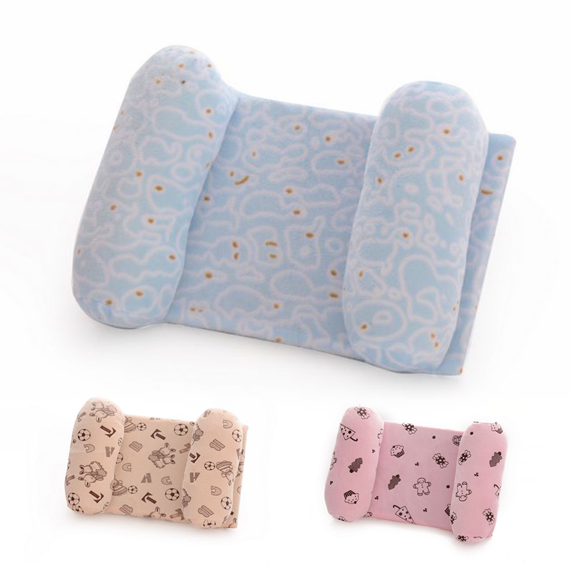 1 Pcs Baby Pillow Comfortable Cotton Anti Roll Pillow Lovely Baby Toddler Safe Cartoon Sleep Head Positioner Anti-rollover D45