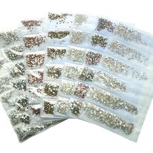 1600 sztuk multi-size Crystal Manicure strasy do dekoracji paznokci Strass Charms kamienie do wzorów 3D akcesoria do paznokci tanie tanio Real Ture COMBO CN (pochodzenie) 12-6LB Szkło Rhinestone i dekoracje about 1600pcs pack SS3-SS10 Nails Accessoires rhinestones nail decoration