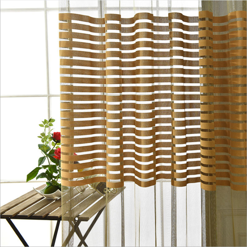 Luoshanna Tulle Curtains For Living Room Kitchen Curtains