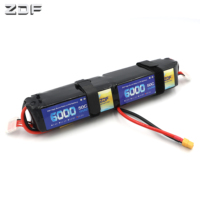 ZDF 6000mAh 12S 50C/100C 44.4V Battery For Helicopter Fixed Wing