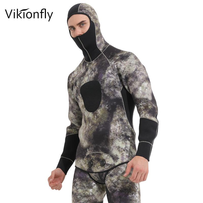 Vikionfly 5 MM néoprène combinaison pour hommes combinaison de conduite Protection de méduses Sport natation maillots de bain vêtements combinaison humide chasse sous-marine