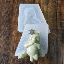 New 3D bear doll silicone mold Mousse cake baking tool ice cream