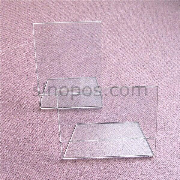 Acrylic L shaped Tag Holder 6x8cm, display racks clear crystal plexi ...