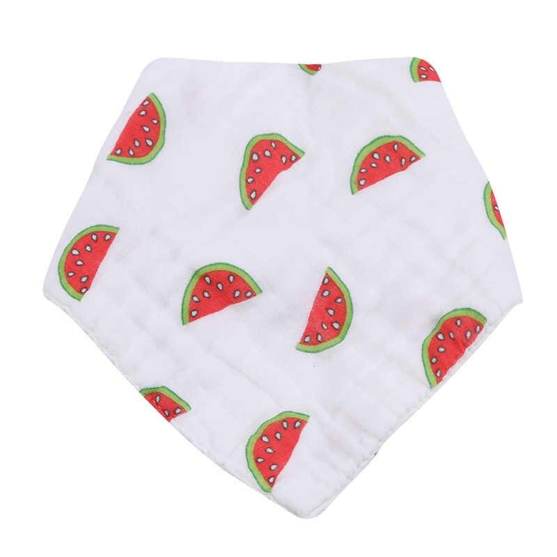 1pc 2020 赤ちゃんよだれかけ 100% 天然コットンソフトフルーツスタイルスカーフベビーブラウスいびき布摂食唾液タオル
