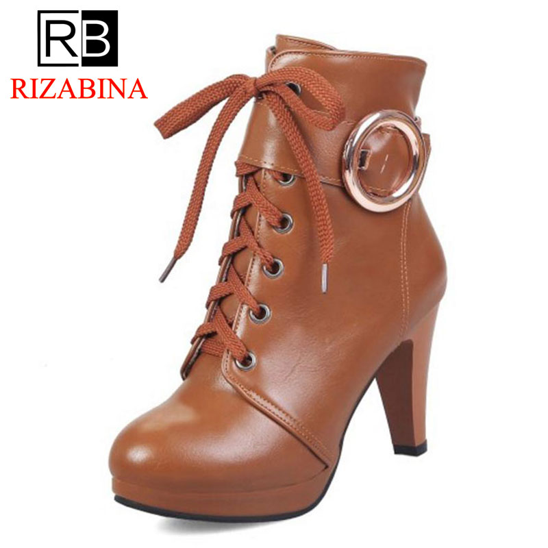 RizaBina womens Big Size 31-46 Sexy Add Fur Platform Shoes Woman Party Booties Sexy High Heels Woman Ankle Boots ...