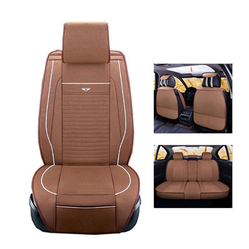 New Luxery flax Universal Car seat covers For Volkswagen vw passat b5 b6 b7 polo 4 5 6 7 golf tiguan jetta touareg car styling yuzhe leather car seat cover for volkswagen 4 5 6 7 vw passat b5 b6 b7 polo golf mk4 tiguan jetta touareg accessories styling