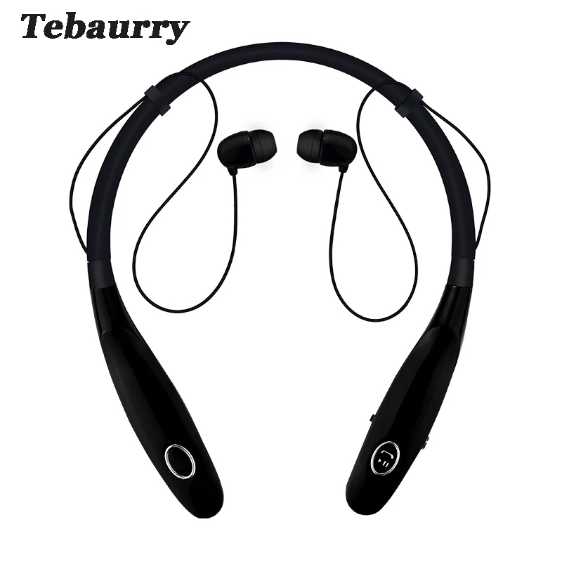 Tebaurry 900S Bluetooth Headset Wireless Headphones with Mic Neckband Sport Running Bass Music Bluetooth earphone for phone tebaurry mini bluetooth earphone wireless bluetooth headset invisible in ear bass earbuds with mic for iphone android phone