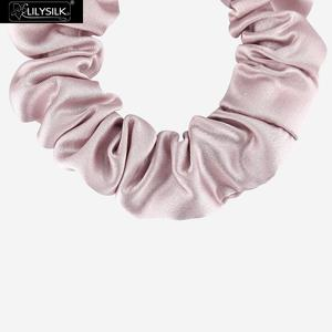 Image 4 - LilySilk Silk Scrunchies 5PCS Hairband Charmeuse 100 Pure Head Rope Rubber For Hair Accessories Soft Care Luxury Free Shipping
