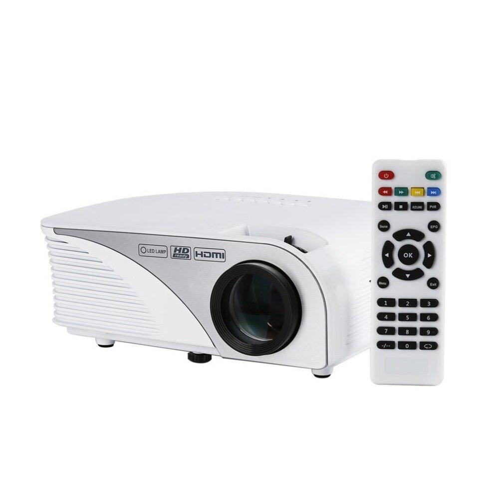 Portable Mini projecteur LED maison multimédia cinéma jeux de cinéma cinéma proyecteur LCD Wifi HDMI/AV/VGA//USB 1200 lm 1500: 1