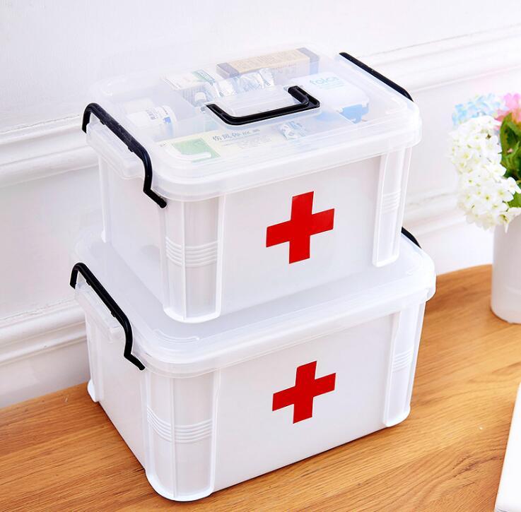 Family large medicine box multi-layer medical emergency medicine storage box household plastic children small medicine box out o футболка medicine medicine me024emuad32