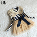 HE Hello Enjoy kids dresses for girls 2016 girls dress autumn girls clothes sequin striped dress girls kids clothing for sale