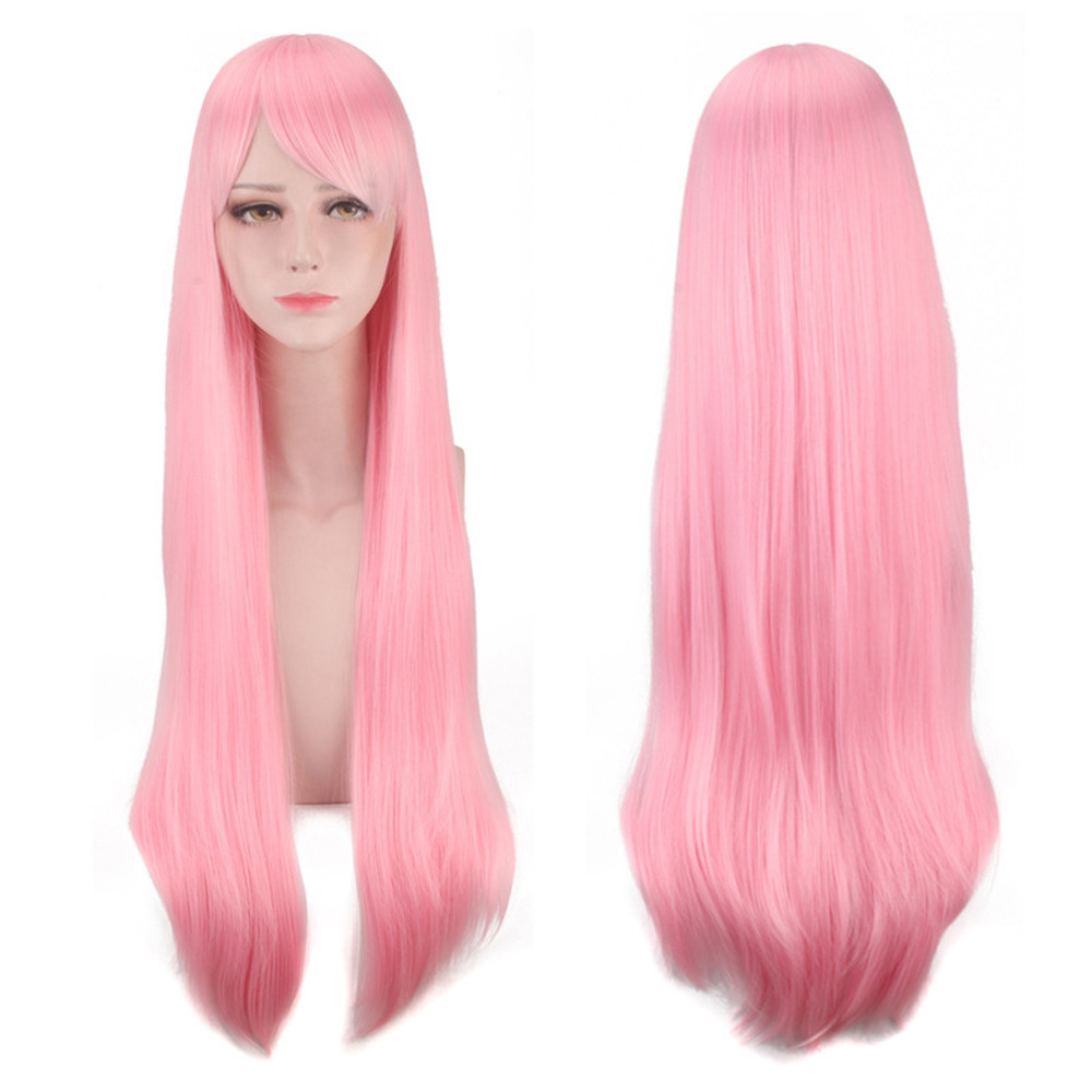 Re:Life In A Different World From Zero Ram Rem Long Straight Light Blue Cosplay Wig 80cm Anime Costume Party Synthetic Hair