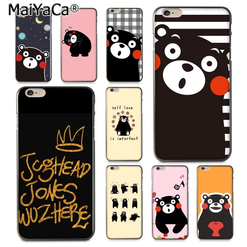MaiYaCa Japan Kawaii Kumamon lovely <font><b>Bear</b></font> <font><b>Drawing</b></font> TPU <font><b>phone</b></font> <font><b>case</b></font> for iPhone 8 7 6 6S Plus X 10 5 5S SE 5C Coque Shell