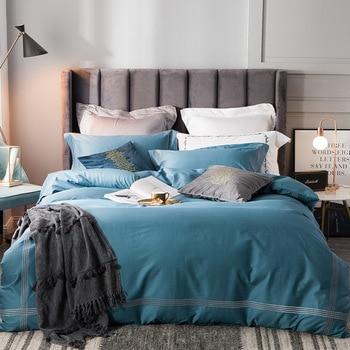 Комплект постельного белья из толстого шлифовального хлопка, осенне зимний комплект постельного белья, пододеяльник, высокое качество, про
