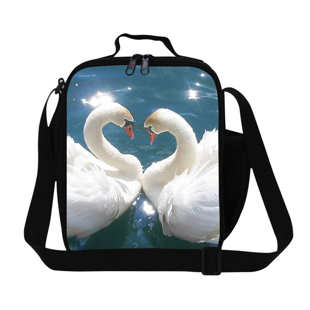 Thermal Insulated Lunch Bag For Kids Cooler Bag Swan Heart Shape Womens  Small Lunch Box Children Picnic Food Bag Bolsa Termica f9bb8da784