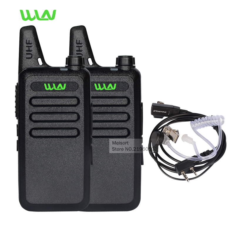 Walkie Talkie Pair Portable Radio WLN UHF 400 470 MHz Mini HF Transceiver Two Way Radio