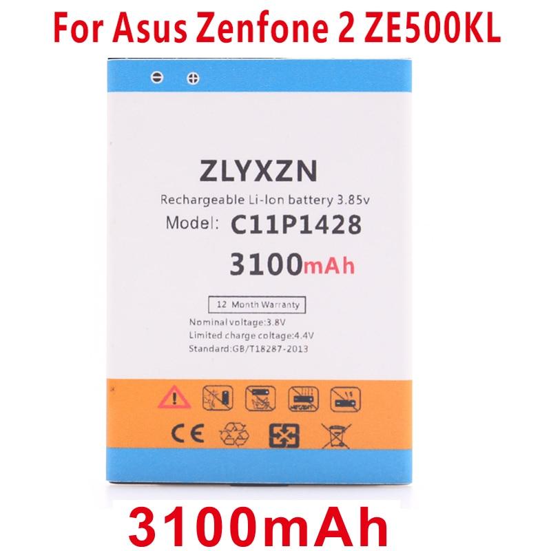 ZLYXZN C11P1428 3100mAh Battery for Asus Zenfone 2 Zenfone2 Laser ZE500KL ZE500KG