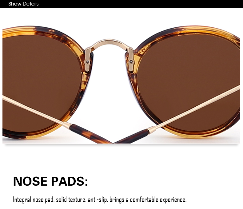 Women and Men Retro Polarized Round Sunglasses