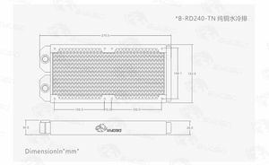 Image 5 - BYKSKI 28มม.ทองแดงหนา240มม.คอมพิวเตอร์Discharge Liquidแลกเปลี่ยนความร้อนแถวหม้อน้ำสำหรับ12ซมb 240RD M