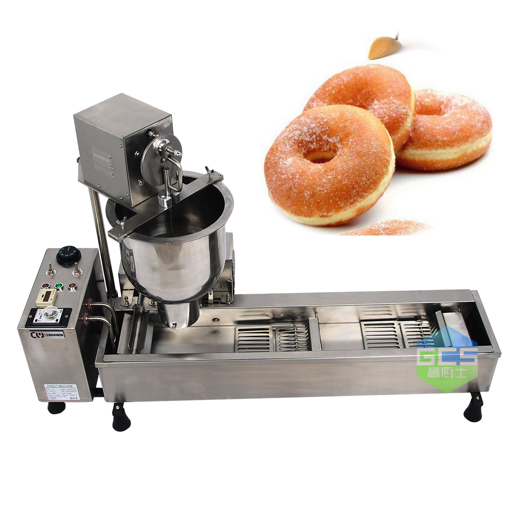 Free Shipping cost Commercial Full Automatic Donuts Machine 110V 220V 3000W Stainless Steel Donuts Maker p80 panasonic super high cost complete air cutter torches torch head body straigh machine arc starting 12foot