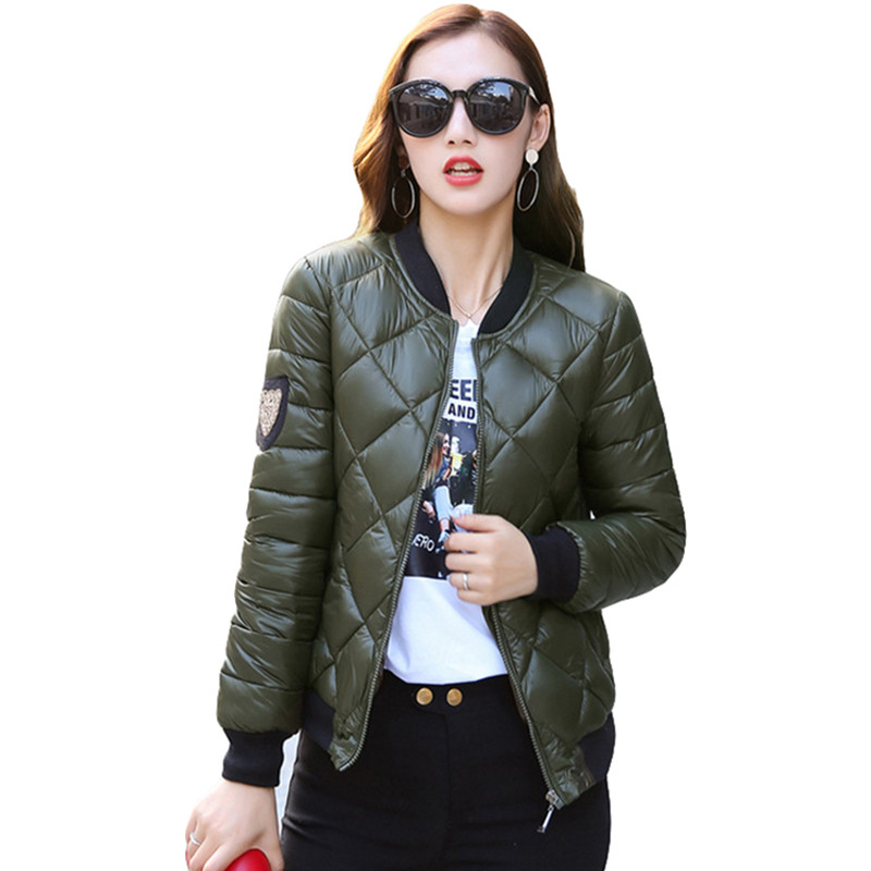 New Fashion Warm Down   Parkas   Winter Jacket Women 2019 Cotton Padded Jacket Girls Slim Thick Baseball Uniform Female Jacket Coat