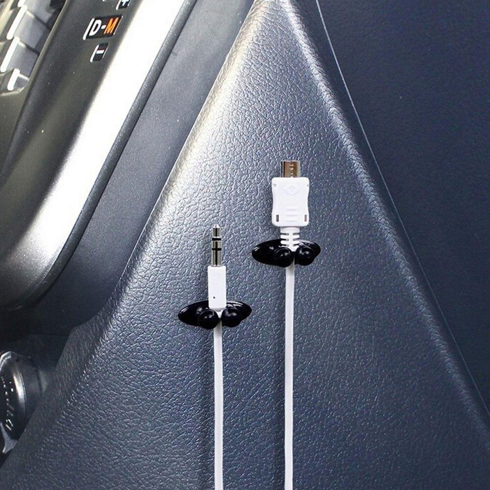 8 шт./компл. многоцелевые автомобильный провод кабель легко установить держатель многофункциональном автомобильном Зарядное устройство линии наушники Организатор кабельный зажим