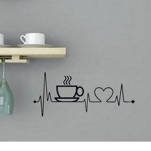 Креативные виниловые наклейки на стену с кофейной чашкой для кухни, домашний декор