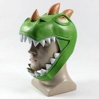 Fortnit Crocodile Dinosaur Game Battle Royale Rex Cosplay Mask Green Dinosaur Full Face Masks Women Men Halloween