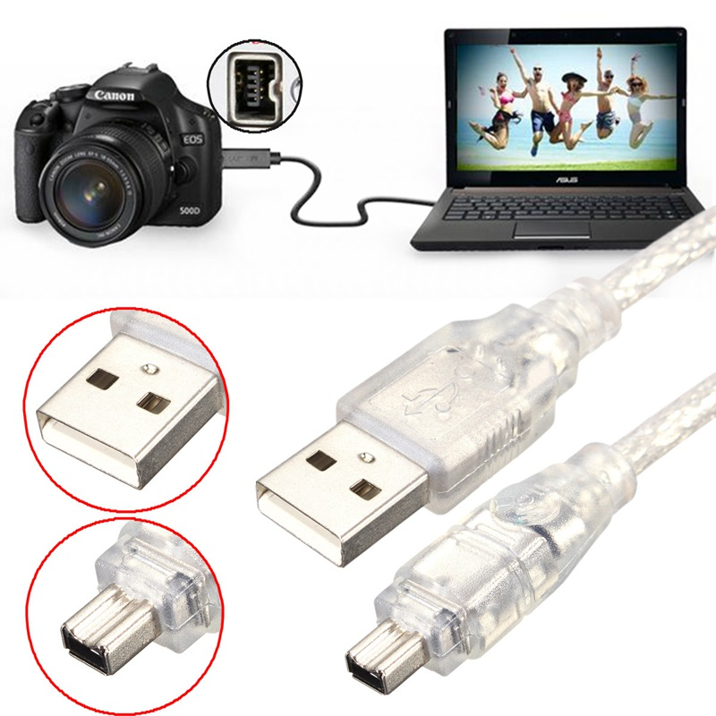 Universal 1.2M/4FT High speed USB 2.0 Male to 4 Pin Firewire IEEE ...