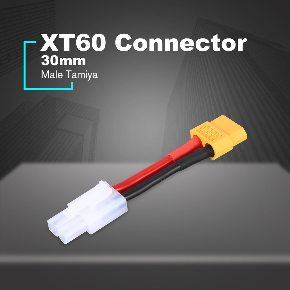 30mm Male XT60 Plug To Male Tamiya Adapter Cable For RC Battery Dynamite Packs Converter Remote Control Toys Accessories
