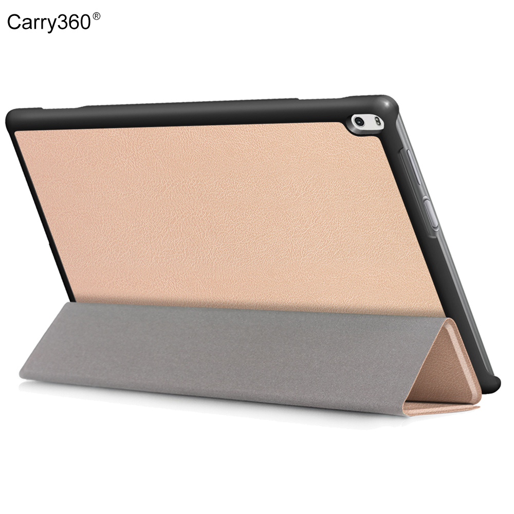 Чехол для Lenovo Tab 4 10 плюс tb-x704l tb-x704f tb-x704fn, carry360 розовое золото PU кожаный чехол Услуга сна для Lenovo tab4 10 плюс