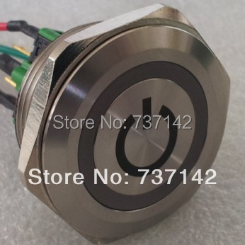 ELEWIND 30mm push button switch With POWER symbol With 6*15cm wires(PM301F-11E/B/12V/S With POWER symbol with 6*15cm wires)