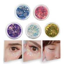 Ogen Glitter Poeder Pailletten Haar Gezicht Eye Glanzend Gel Pigment Flash Hart Cream Make Koreaanse Cosmetica Decoratie TSLM1(China)