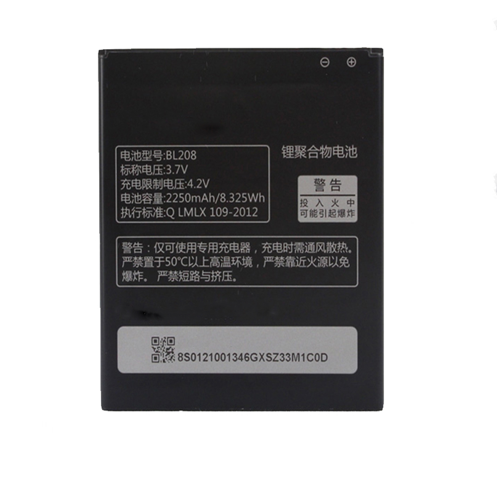 2250mAh BL208 Replacement Battery For <font><b>Lenovo</b></font> S920 <font><b>A616</b></font> A690E BL 208 Mobile Phone image