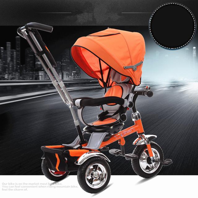Alta Calidad Bebé Niños Triciclo Cochecito de Bebé de múltiples funciones Portable 3 Ruedas Reversible Bebé Divertido Coche de Juguete Bebé Bicicleta