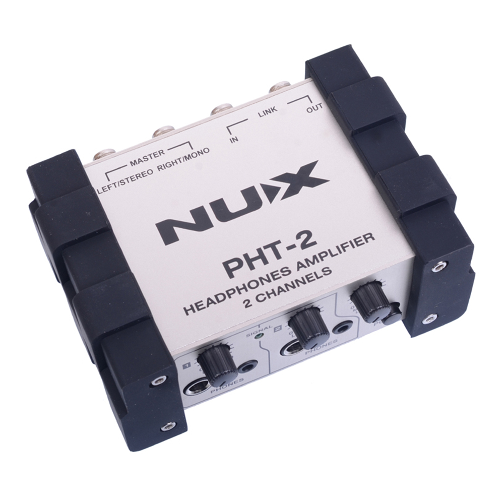 NUX PHT-2 Headphones Amplifier Versatile Portable Headphone Preamp Two-Channel Volume Control nux pmx 2 multi channel mini mixer 30