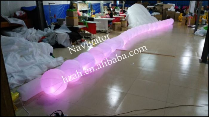 LED Lighted Inflatable Balloon Chain for Party Decoration ao058h 2m helium balloon ball pvc helium balioon inflatable sphere sky balloon for sale