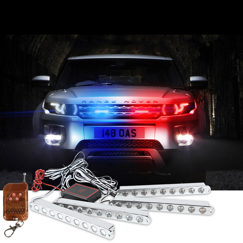 car-styling led Ambulance Police light Car Truck Emergency Light Flashing Firemen Lights DC 12V Strobe Warning light цена