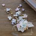 Очаровательная цветочные заколки элегантный заколки ювелирные изделия перлы handemade украшения для волос девушки люкс свадебное аксессуары для волос yl08