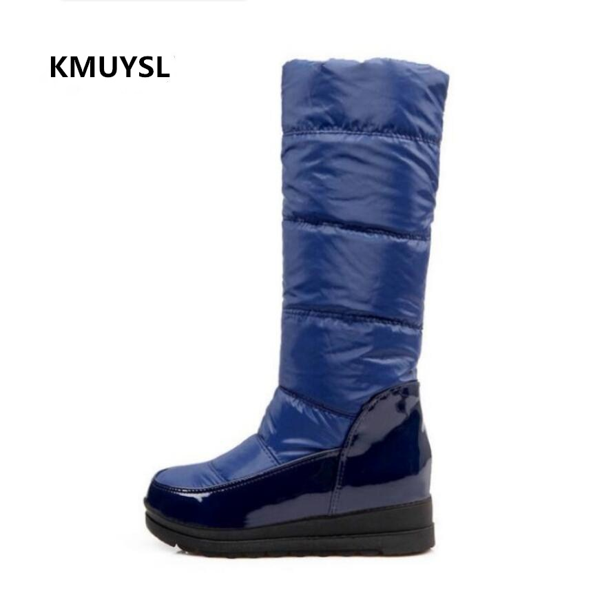 Winter Boots Women Warm Knee High Boots Ladies Thick Plush Down Snow Boots Platform Shoe ...