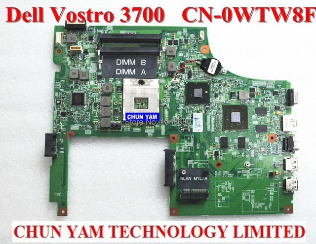 Atacado laptop motherboard wtw8f para dell vostro 3700 v3700 cn-0wtw8f 0wtw8f notebook da placa de sistema 100% testado garantia 90 dias