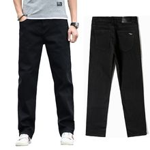 2020 New Mens Classic Straight Black Jeans Fashion Business Casual Elastic Loose Trousers Male Brand Pants Plus Size 40 42 44