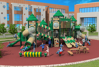 Kids Assembly Amusement Outdoor Playground Slide Play Structure Equipment For Park YLW 17930
