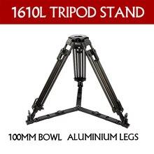 TERIS TX-1610L Aluminum tripod legs video digicam skilled tripod stand (100mm Bowl)For TILTA Rig Purple Scarlet Epic FS700