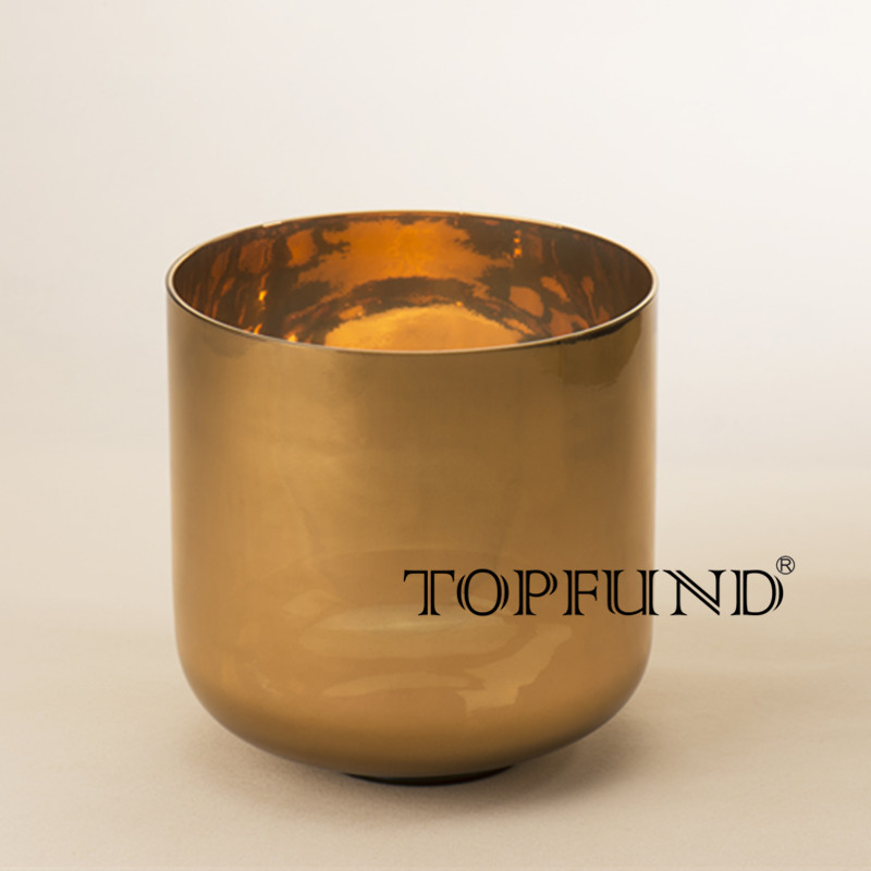 TOPFUND Chakra Pure Solid 24K Gold Clear Quartz Crystal Singing Bowl 6,A B C D E F G note topfund perfect pitch tuned chakra set of 7pcs colored frosted crystal singing bowls all 10