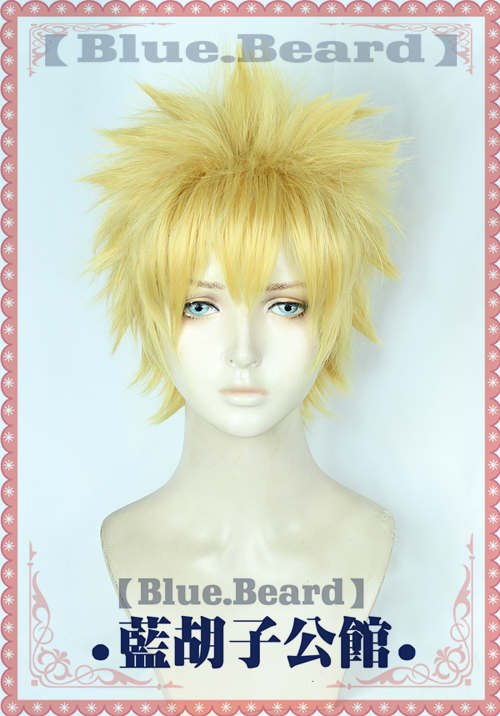 NARUTO -ナルト- Uzumaki Naruto Cosplay Costume wig Japan Anime Yellow Party hair Free track / cap