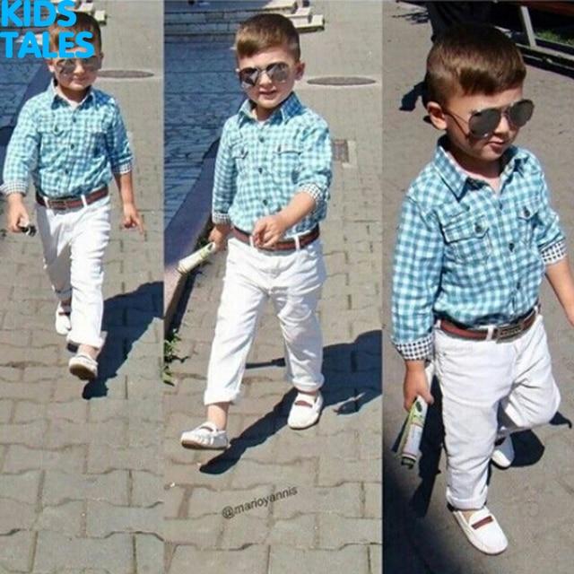 74644fef56b69b Baby-Jongens-Herfst-Casual-Kleding-Set-fashion-kinderen-Plaid-Formele-Kleding-Blauw-jas-Witte-broek-Riem.jpg 640x640.jpg