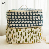 Portable Home Use Large Storage Bag Quilt Organizer Blanket Pillow Container With Handle Soft Foldable Zipper