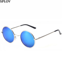 New Brand Designer Classic Polarized Round Sunglasses Men Small Vintage Retro John Lennon Glasses Women Driving Metal Eyewear