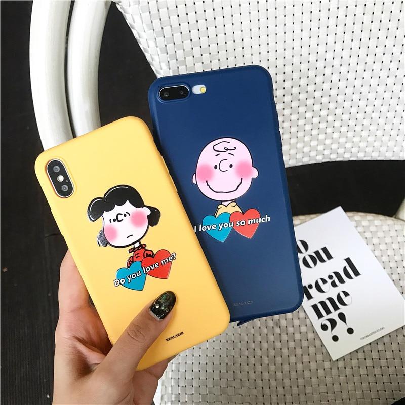 7f62a3e9fd Soft TPU Phone Case for iphone X XS Max XR 6 6s 7 8 plus Kawaii Korea Japan  Boys Girls Love Heart Letter Couples Case Cover Capa